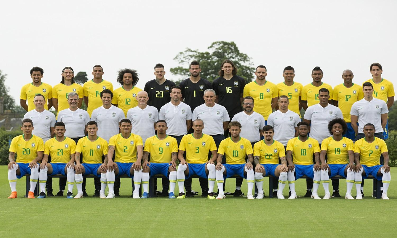 foto oficial selecao brasileira copa 2018